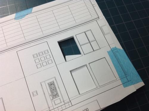 建築模型の作り方~その① ⑤三和建設のコンクリート