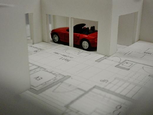ワインセラーのある書斎から愛車を眺める・・・