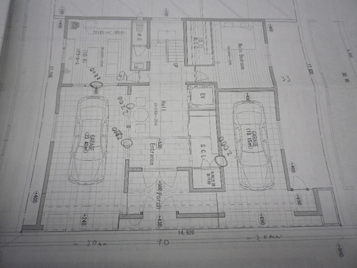超特急で作る住宅模型!RCガレージハウス!!平面図