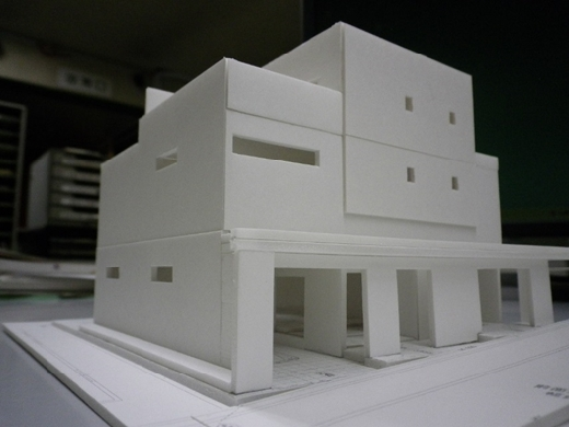 RCガレージハウス 外観模型①