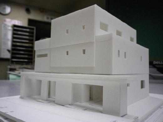 RCガレージハウス 外観模型②