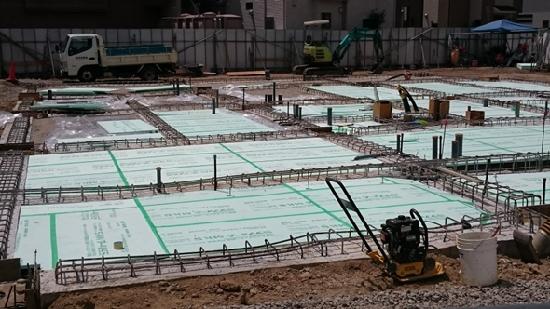 土間コンクリート下断熱材敷込