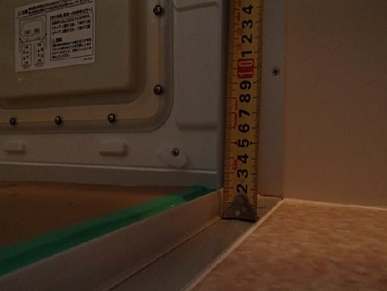 洗面室 洗い場 段差約15ミリ