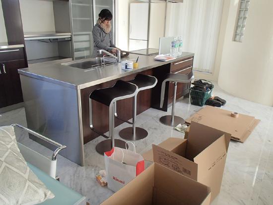 『RCの家』モデルハウス片付け作業①