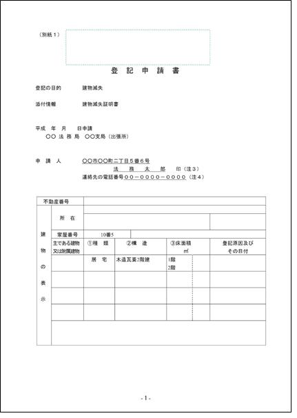 滅失登記申請書-1