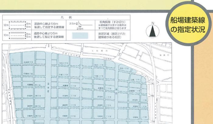 船場建築線の指定