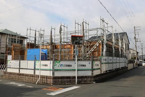 大阪堺市内で建設中のK医院の現場進捗状況