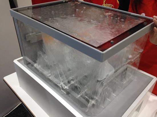 食洗機のスケルトン実演