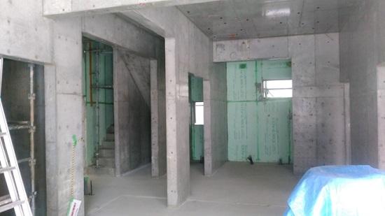 堺市内RC造医院現場リポート 受付や処置室などスタッフのスペース