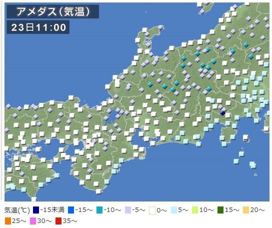 関西でも各地で雪が積もるとの予報
