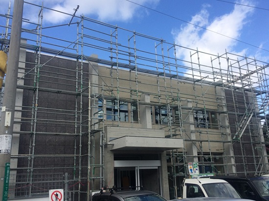 堺市で建築中の医院建築現場のリポート