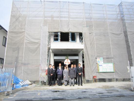 大阪・堺市RC造2階建医院建築現場上棟式