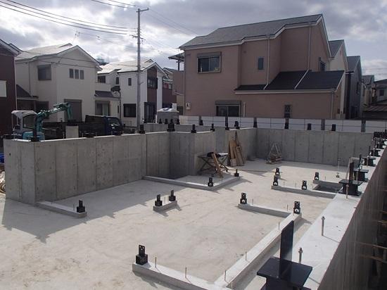 実際の基礎の施工の様子
