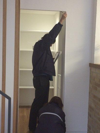 固定資産税課職員による家屋の完成確認②