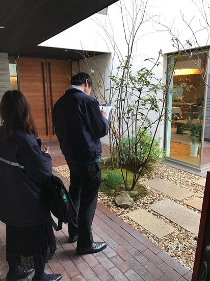 固定資産税課職員による家屋の完成確認③