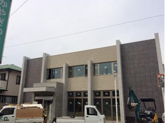 大阪で建築中のRC造医院の現場の様子
