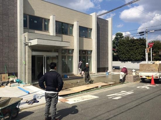 大阪・堺市で建築中のRC造医院現場