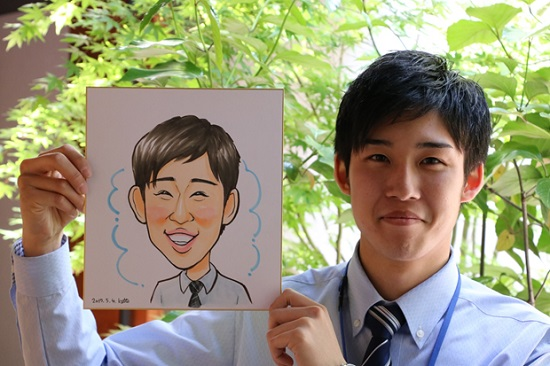 オープン1周年記念イベント「みんなで似顔絵を描いてもらおう!」⑤