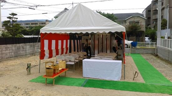 「芦屋呉川町の家」の地鎮祭
