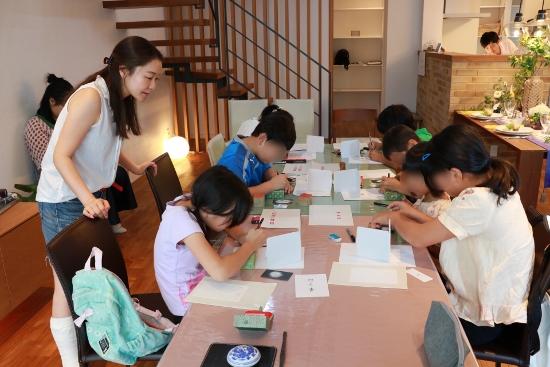 特別企画「こどもハンコ作り教室」を開催