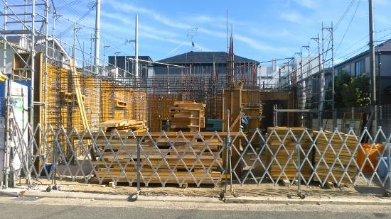 芦屋市で建築中のRC住宅現場の進捗状況