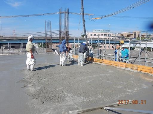 いよいよコンクリート打設作業開始!⑤