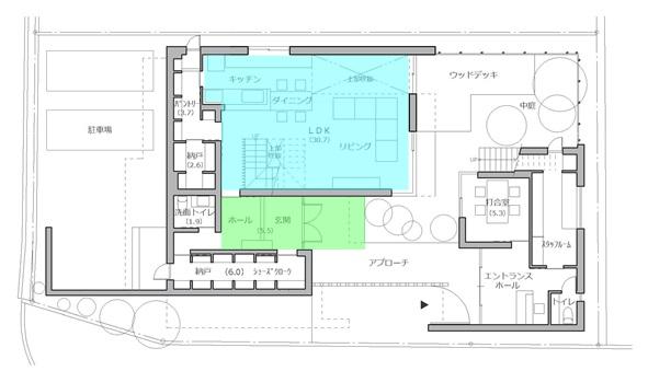 RCギャラリー西宮1F平面図