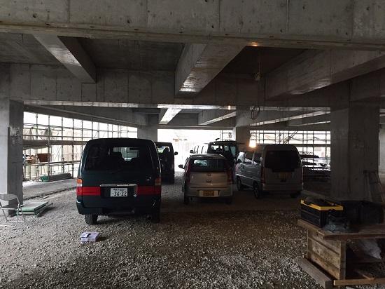 新社屋駐車スペース