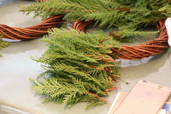 枝を15cm程度の長さで切り揃えます