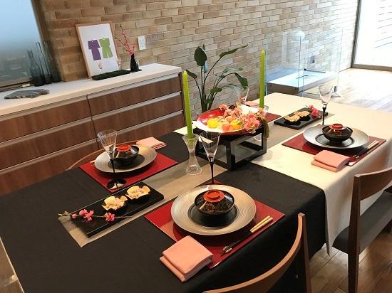 ひな祭りのテーブル