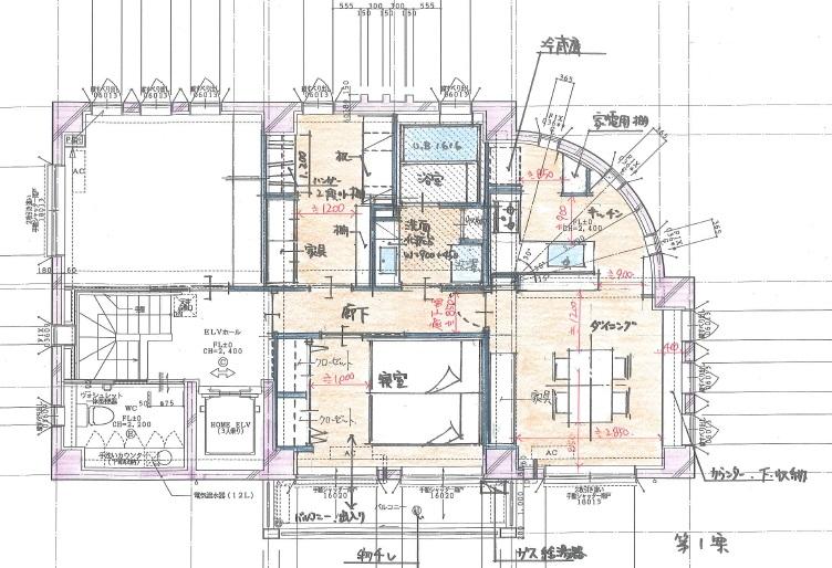 鉄筋コンクリート住宅リフォーム1案