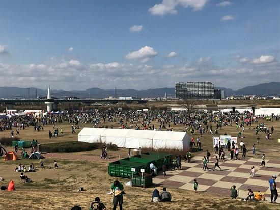 淀川河川敷で開催されたマラソン大会