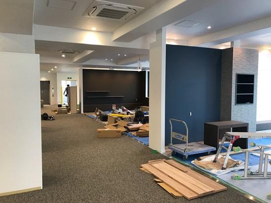 三和建設新社屋ショールーム工事2階