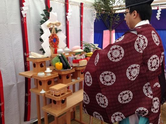 芦屋神社様の執り行いで地鎮祭を催行