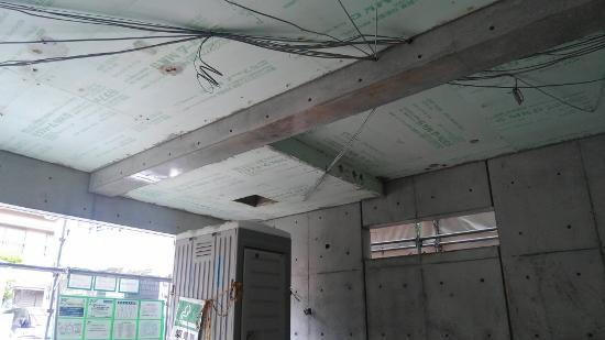 こちらはガレージ内部から天井を見上げた画像