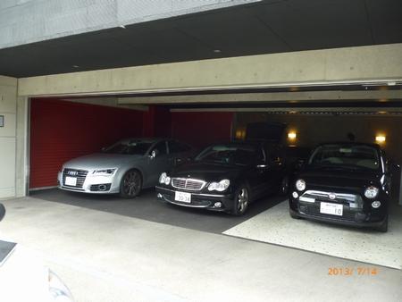 3台分のビルトインガレージシャッター
