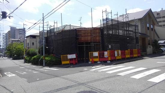 宝塚市で建築中の鉄筋コンクリート造2階建て住宅