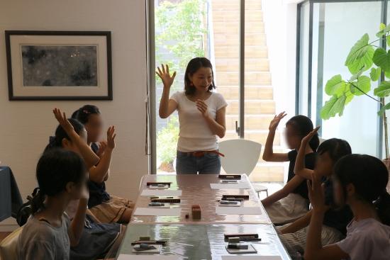 子どもさん向けに「ハンコ作り教室」を開催