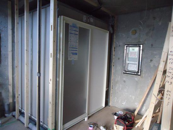ユニットバス入口施工②