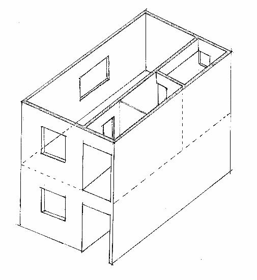 壁式鉄筋コンクリート造は、床・壁・屋根の6面が一体化した構造体