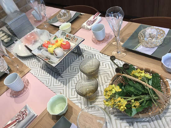 春爛漫のテーブルコーディネート③