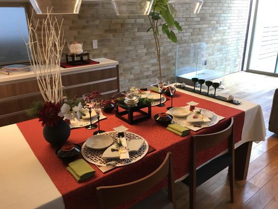 2021年RCギャラリー西宮お正月のテーブル