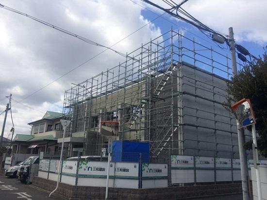 堺市で建築中の医院建築現場のリポート②