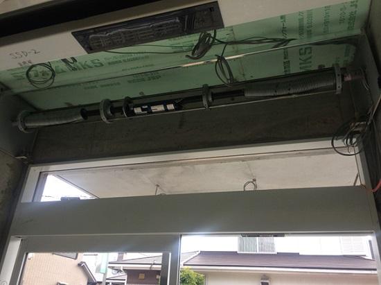 風除室のグリルシャッターBOX