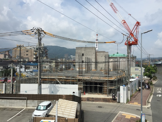 2018年春の完成を目指して建築中の三和建設新社屋建築工事