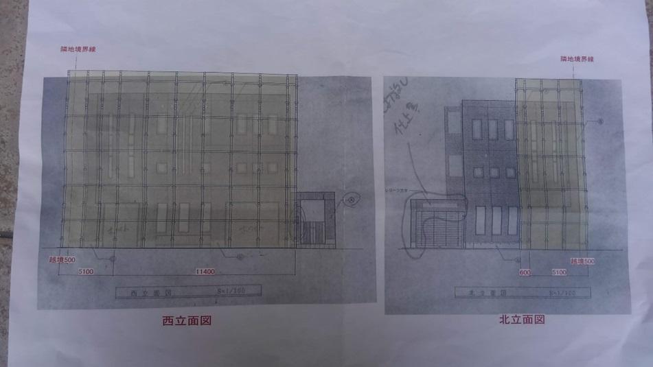 こちらは作業足場の計画図